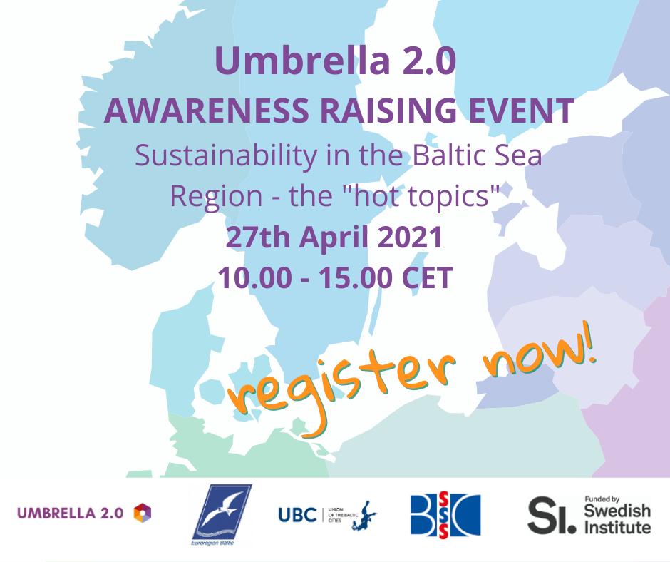 Seminarium online UMBRELLA 2.0 o aktualnych trendach współpracy bałtyckiej