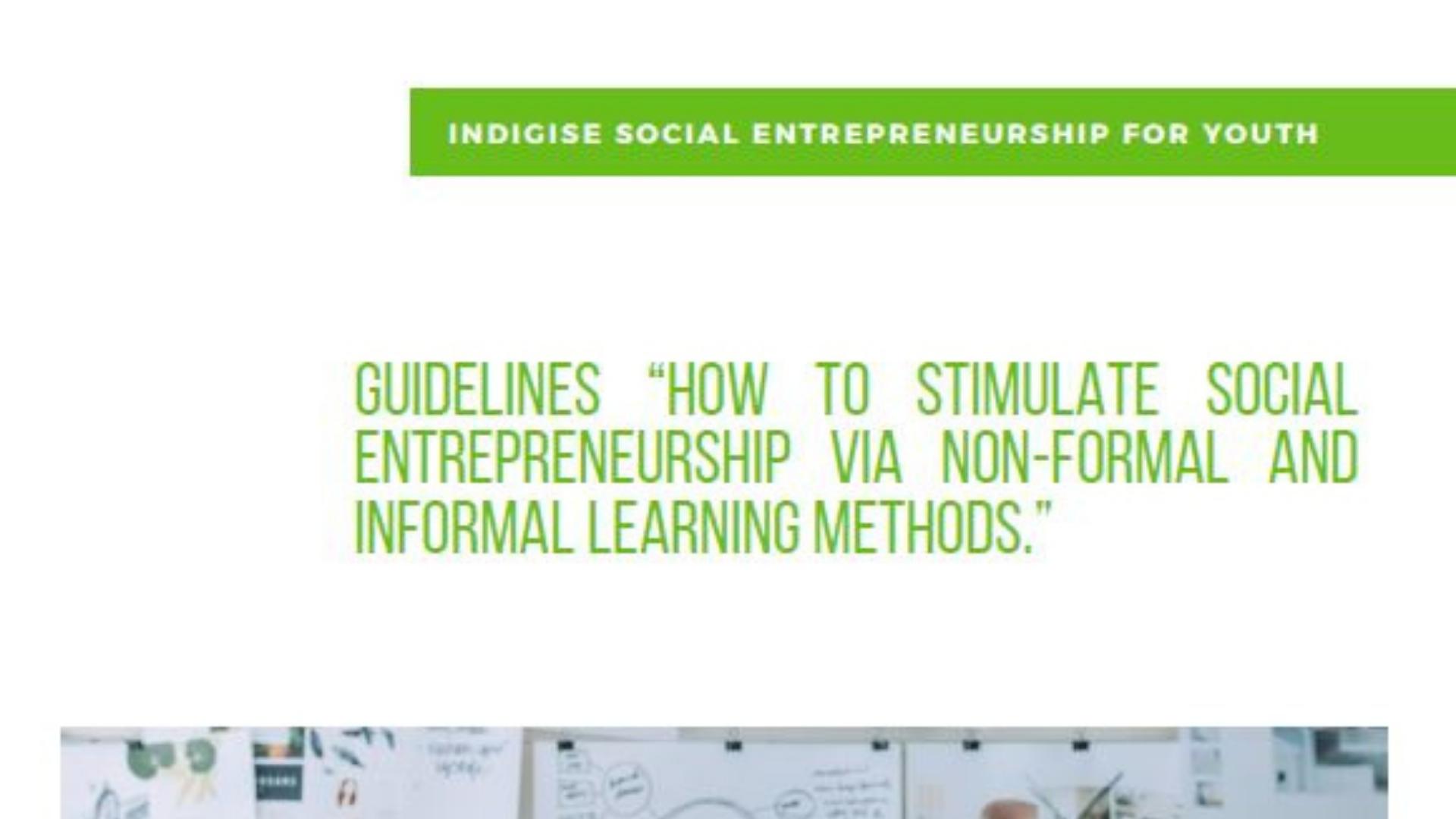 """Przewodnik """"Jak stymulować przedsiębiorczość społeczną za pomocą metod uczenia się pozaformalnego i nieformalnego"""""""
